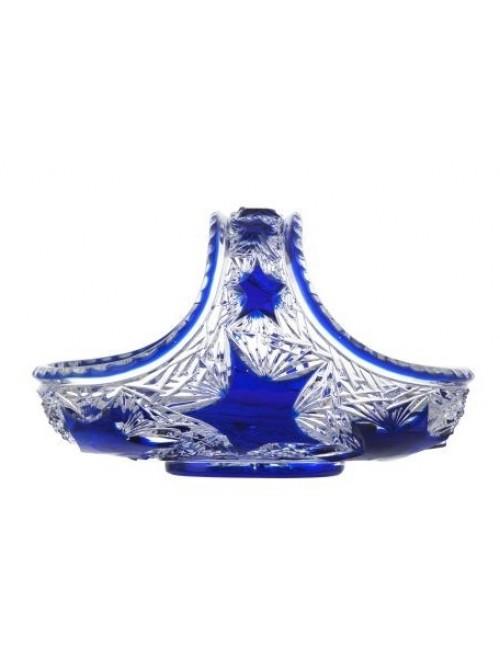 Crystal Basket Stella, color blue, diameter 230 mm