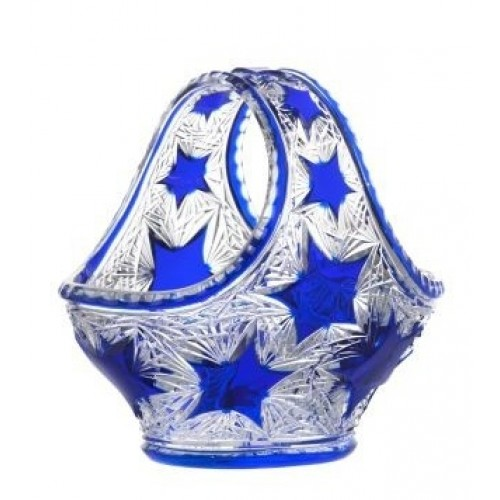 Crystal Basket Stella, color blue, diameter 255 mm