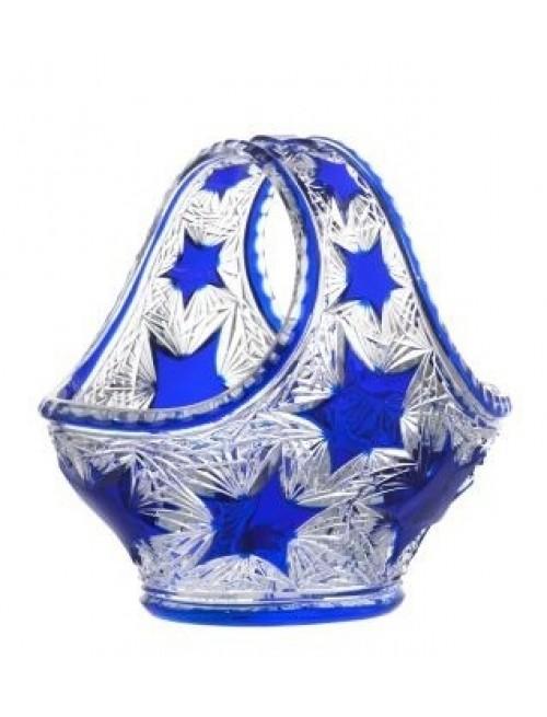 Crystal Basket Stella, color blue, diameter 255 mm