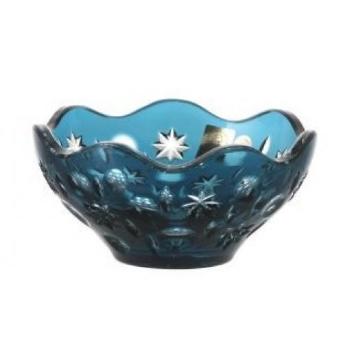 Crystal Bowl Lyra, color azure, diameter 130 mm