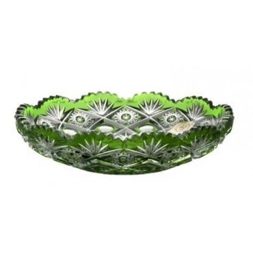 Crystal Plate Daniel, color green, diameter 145 mm