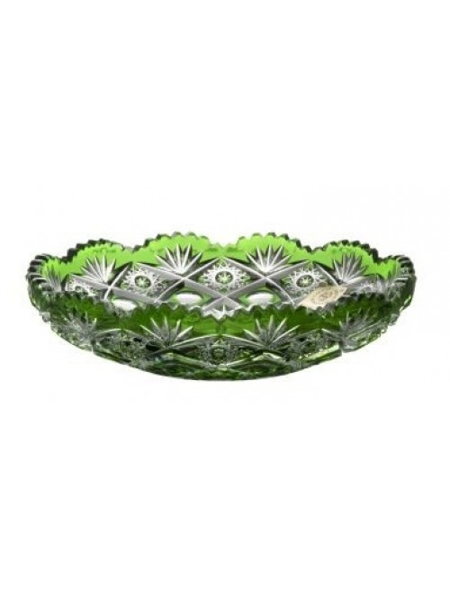 Crystal Plate Daniel, color green, diameter 145 mm