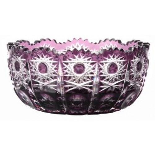 Crystal bowl Petra, color violet, diameter 116 mm