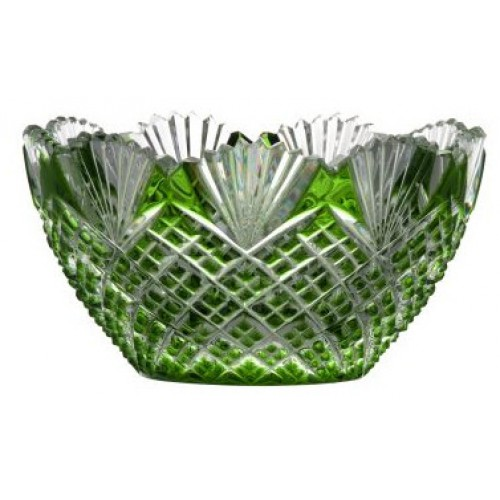 Crystal bowl Pataya, color green, diameter 118 mm