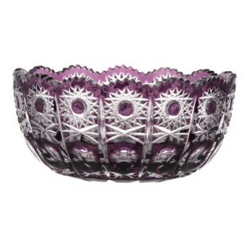 Crystal bowl Petra, color violet, diameter 155 mm