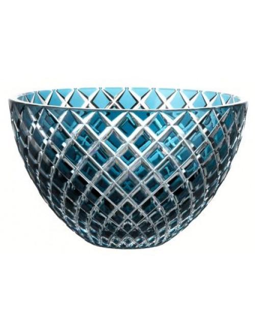 Crystal bowl Karo, color azure, diameter 250 mm