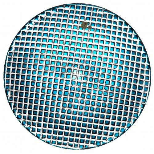 Crystal plate Karo, color azure, diameter 350 mm
