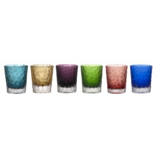 Crystal set glass, color mix, volume 290 ml