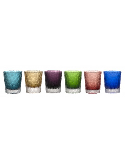 Crystal set glass, color mix, volume 290 ml