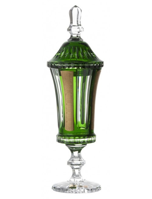 Crystal cup Romance, color green, height 390 mm