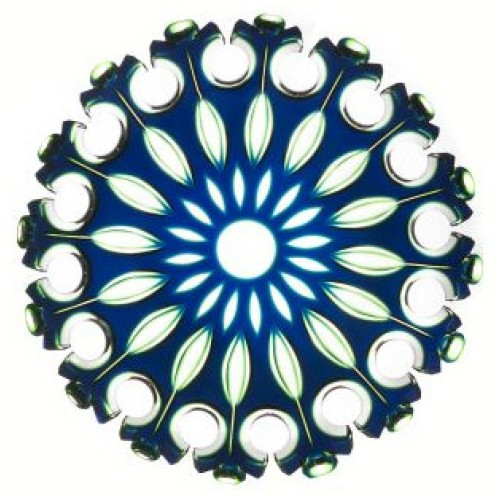Crystal plate Flamenco, color blue, diameter 350 mm