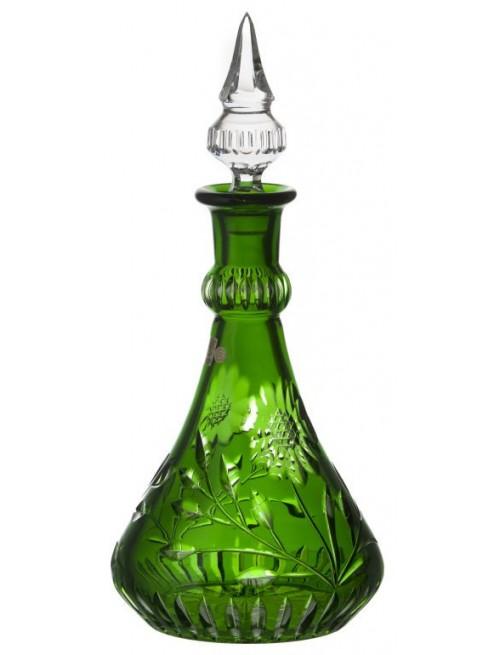 Crystal Bottle Garden, color green, volume 1300 ml