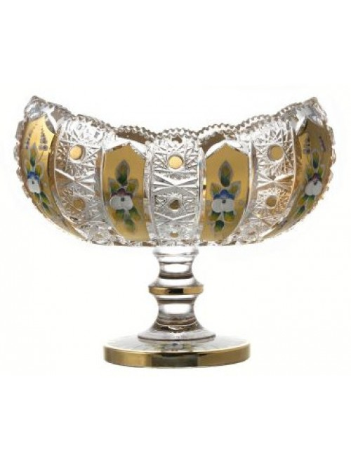 Crystal footed bowl 500K Gold, color clear crystal, diameter 255 mm