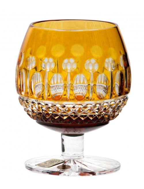 Crystal glass Brandy Tomy, color amber, volume 230 ml