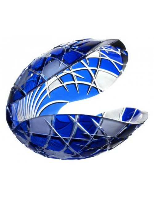 Crystal seashell Mars, color blue, height 280 mm