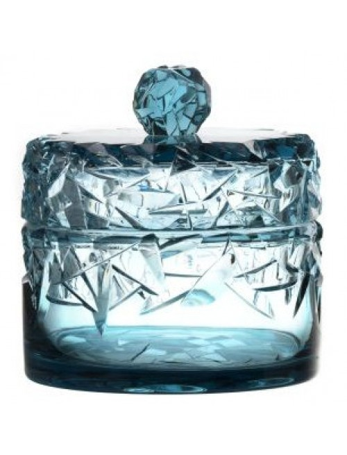 Crystal Box, color azure, height 195 mm