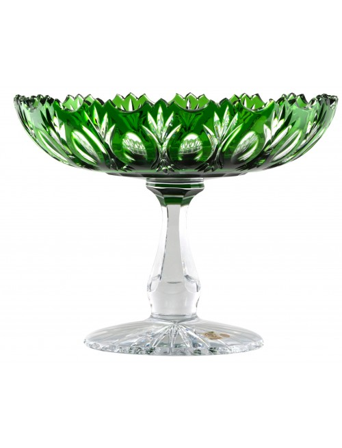 Crystal footed bowl Dandelion, color green diameter 305 mm