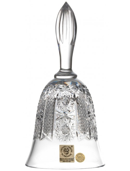 Crystal bell Iris, color clear crystal, height 165 mm
