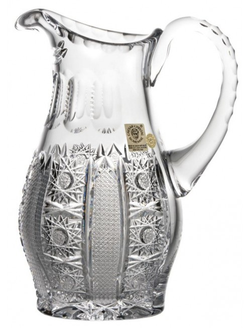 Crystal pitcher Iris, color clear crystal, volume 600 ml