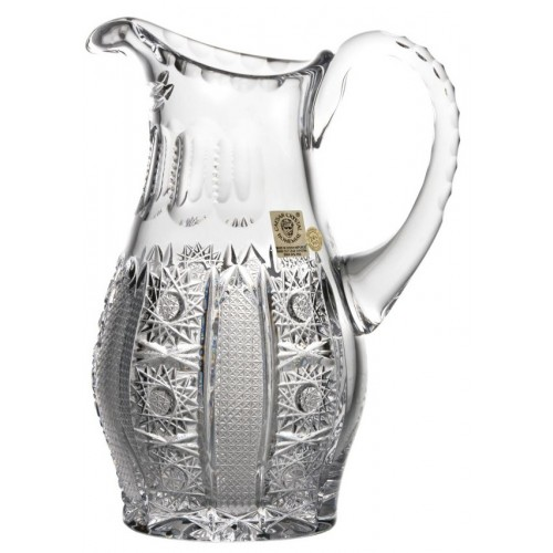 Crystal pitcher Iris, color clear crystal, volume 900 ml