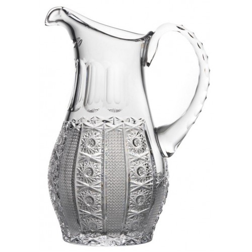Crystal pitcher Iris, color clear crystal, volume 1300 ml