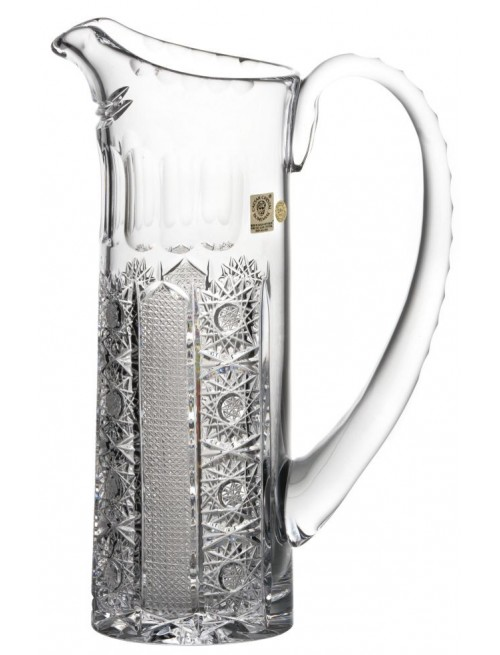 Crystal pitcher Iris, color clear crystal, volume 950 ml