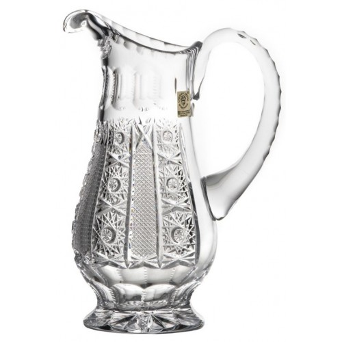 Crystal pitcher Iris, color clear crystal, volume 1150 ml