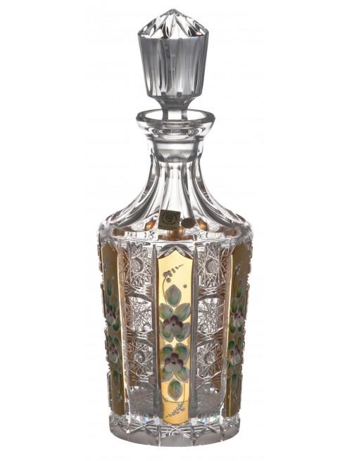 Crystal Bottle 500K Gold, color clear crystal, volume 750 ml