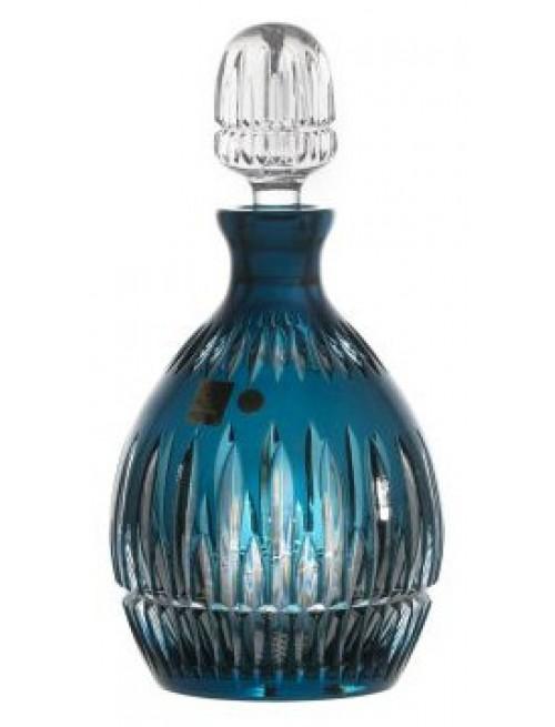 Crystal bottle Thorn, color azure, volume 700 ml