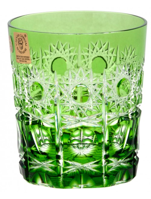 Crystal glass Petra, color green, volume 290 ml