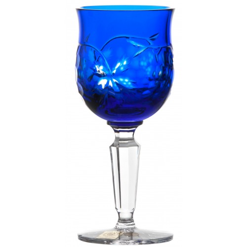 Crystal wine glass Grapes, color blue, volume 140 ml