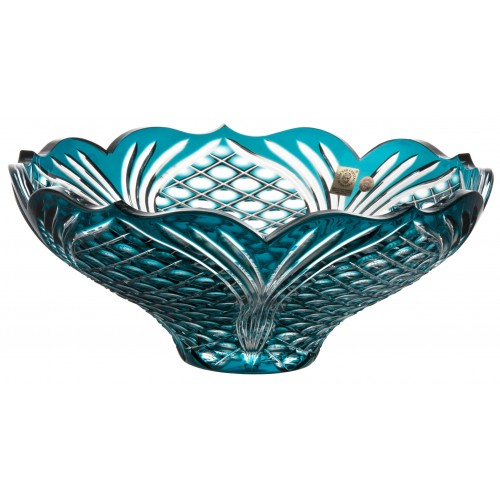 Crystal bowl Ankara, color azure, diameter 275 mm