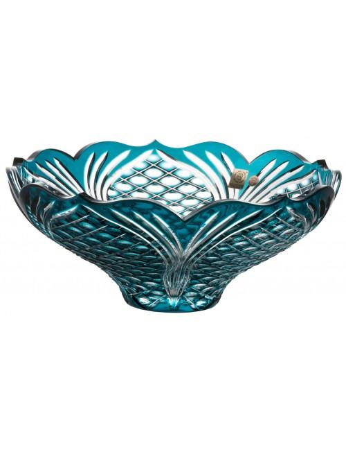 Crystal bowl Ankara, color azure, diameter 275 mm