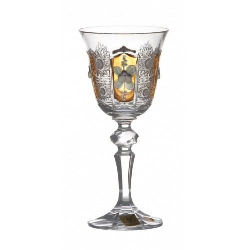 Crystal Wine Glass Laura 500K gold, color clear crystal, volume 130 ml