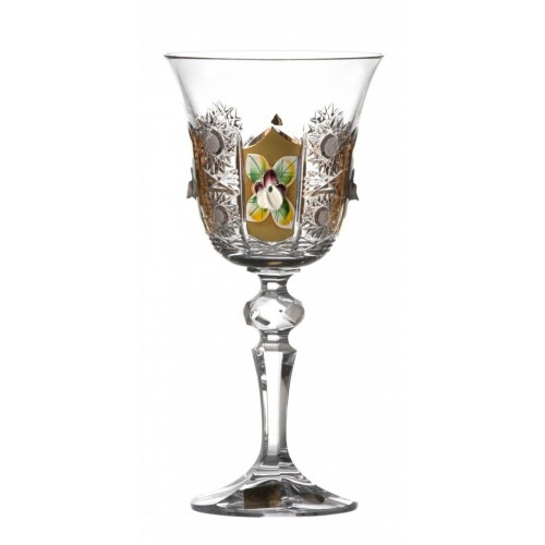 Crystal Wine Glass Laura 500K gold, color clear crystal, volume 170 ml