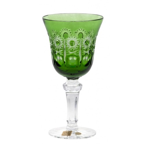 Crystal Wine Glass Petra, color green, volume 180 ml