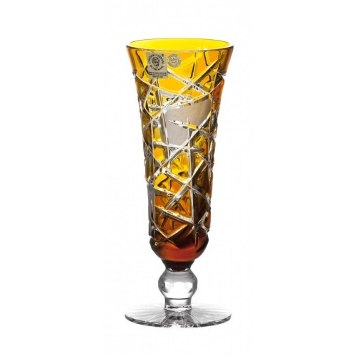 Crystal Wine Glass Mars, color amber, volume 150 ml