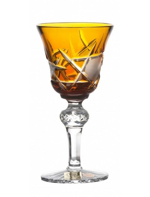Crystal Shot Glass Mars, color amber, volume 50 ml