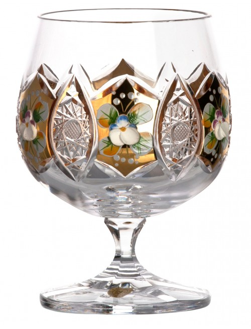 Crystal glass brandy Gold, color clear crystal, volume 250 ml