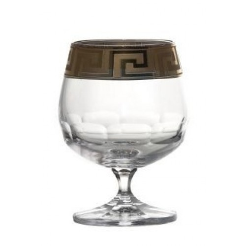 Crystal Glass brandy enamel, color clear crystal, volume 250 ml