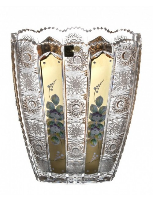 Crystal Vase  500K gold, color clear crystal, height 255 mm
