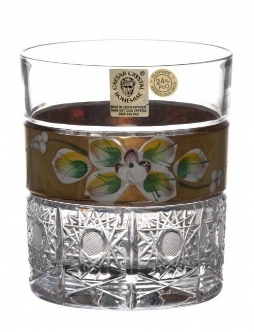Crystal Glass Whisky gold, color clear crystal, volume 320 ml