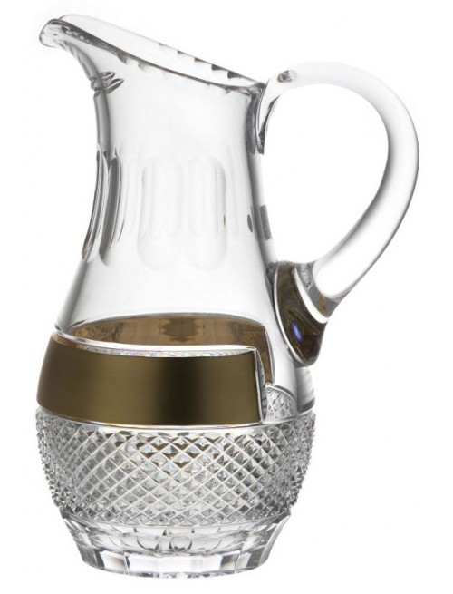 Crystal pitcher gold, color clear crystal, volume 1500 ml