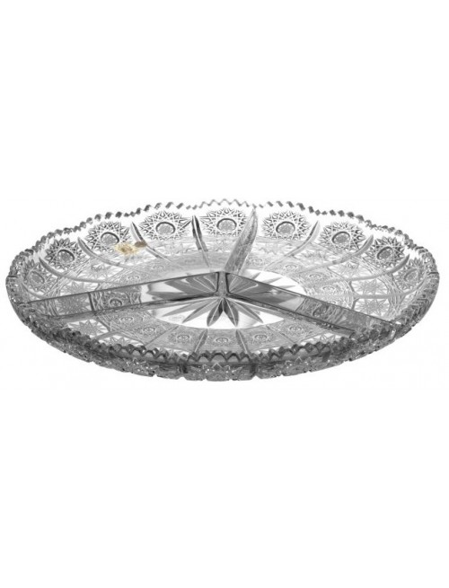 Crystal plate 500PK, color clear crystal, diameter 305 mm