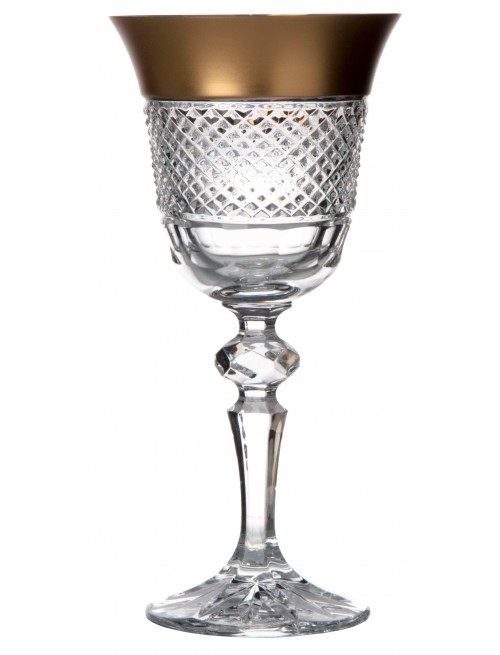 Crystal Wine Glass Gold, color clear crystal, volume 170 ml