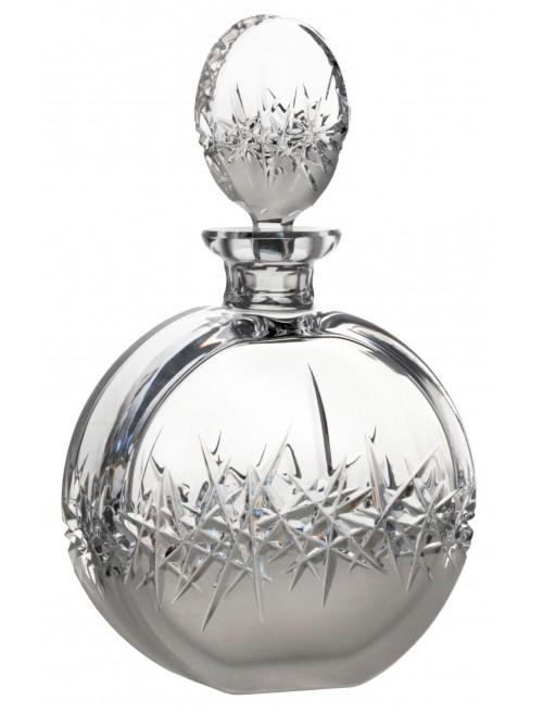 Crystal bottle Hoarfrost, color clear crystal, volume 600 ml