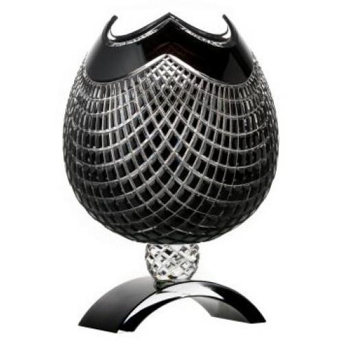 Crystal Vase Quadrus, color black, height 316 mm