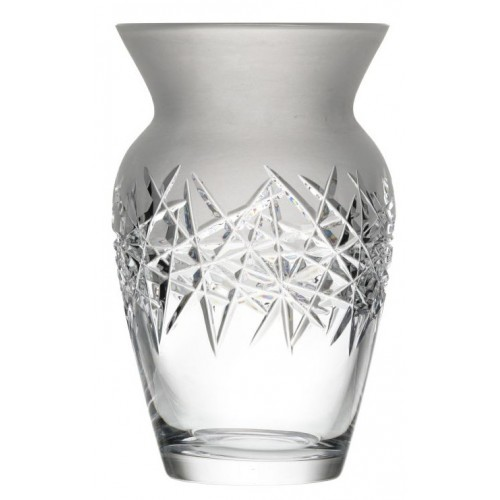Crystal Vase Hoarfrost, color clear crystal, height 255 mm