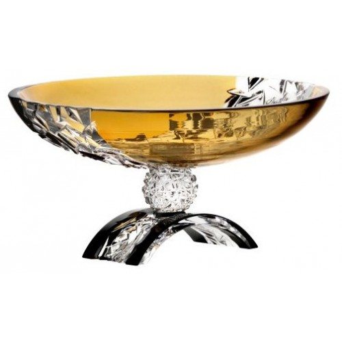 Crystal footed bowl Xaz, color mix, diameter 350 mm