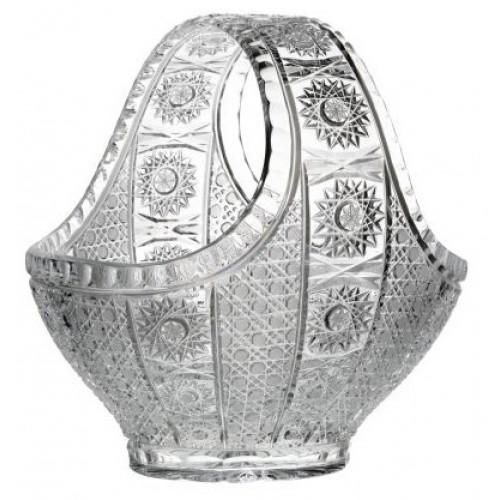 Crystal Basket Marcela, color clear crystal, diameter 300 mm